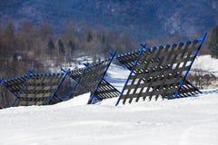 Piękna abstrakta krajobrazu zimy góra Obrazy Stock