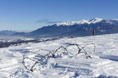 Piękna abstrakta krajobrazu zimy góra Zdjęcie Royalty Free