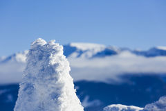 Piękna abstrakta krajobrazu zimy góra Fotografia Royalty Free
