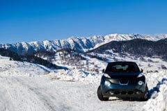 Piękna abstrakta krajobrazu zimy góra Zdjęcie Stock