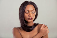 Piękna Afro amerykanina dziewczyna Obrazy Royalty Free