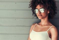 Piękna Afro amerykanina dziewczyna Zdjęcie Stock