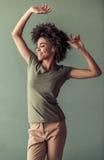 Piękna Afro amerykanina dziewczyna Obraz Royalty Free