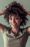 Piękna Afro amerykanina dziewczyna Fotografia Stock