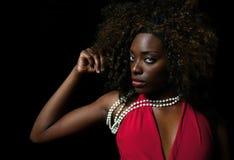 Piękna Afro amerykanina kobieta Fotografia Stock