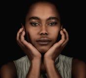 Piękna Afro amerykanina kobieta Zdjęcie Stock