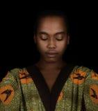Piękna afro kobieta Obraz Royalty Free