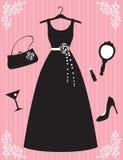 piękna akcesoria suknia ilustracja wektor