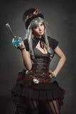 Piękna alchemik kobieta Zdjęcie Stock