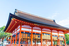 Piękna architektura Fushimiinari Taisha ShrineTemple w Kyoto Obraz Stock