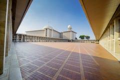 Piękna architektura Istiqlal meczet Zdjęcie Stock