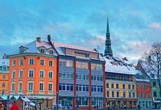 Piękna architektura Stary Ryski Fotografia Royalty Free