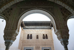 Piękna architektura w Alhambra, Granada, Hiszpania Fotografia Stock