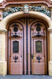 Piękna barokowa brama z kruszcowymi zastosowaniami obrazy royalty free