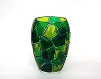 Piękna barwiona szklana waza dla kwiatów Zdjęcie Stock