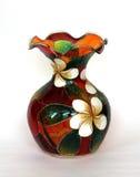 Piękna barwiona szklana waza dla kwiatów Obrazy Stock