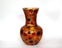 Piękna barwiona szklana waza dla kwiatów Fotografia Royalty Free