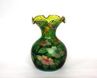 Piękna barwiona szklana waza dla kwiatów Obrazy Royalty Free