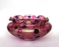Piękna barwiona szklanego pucharu waza Fotografia Royalty Free