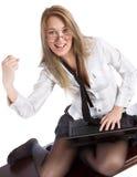 piękna biurowa kobieta Zdjęcie Royalty Free