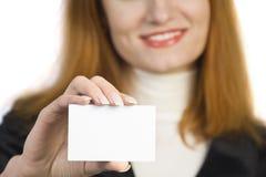 piękna biznesowa mienia znaka kobieta Obraz Stock
