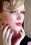 piękna blondynka kobieta Fotografia Stock