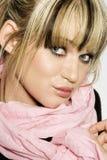 piękna blondynka model Obrazy Stock