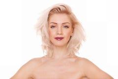 Piękna blondynki kobieta Zdjęcia Royalty Free
