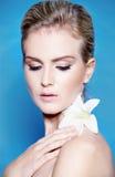piękna blondynki portreta kobieta Zdjęcie Royalty Free