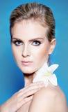 piękna blondynki portreta kobieta Obraz Royalty Free
