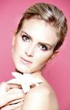 piękna blondynki portreta kobieta Obraz Stock