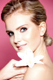 piękna blondynki portreta kobieta Fotografia Stock