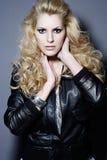 piękna blondynki portreta kobieta Zdjęcia Stock