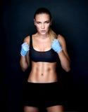 Piękna bokser dziewczyna Obrazy Royalty Free