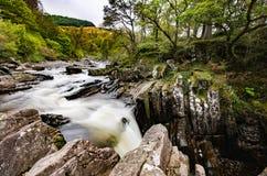 Piękna Braklynn siklawa w Szkocja Obrazy Royalty Free
