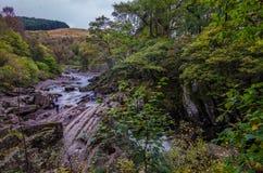 Piękna Braklynn siklawa w Szkocja Obrazy Stock