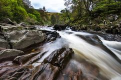 Piękna Braklynn siklawa w Szkocja Obraz Stock