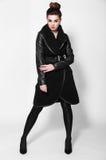 Piękna brunetek kobiet moda Obrazy Royalty Free