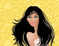 Piękna brunetka Fotografia Royalty Free