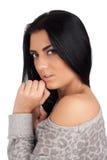 Piękna brunetka Obrazy Royalty Free