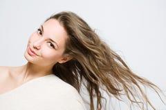 piękna brunetki modni potomstwa Fotografia Royalty Free