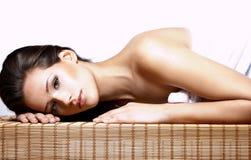 piękna brunetki portreta kobieta Obraz Stock