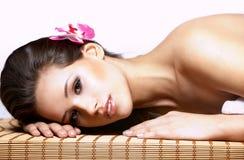 piękna brunetki portreta kobieta Fotografia Stock