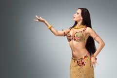 Piękna brzucha tancerza kobieta Obraz Stock