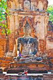 piękna Buddha lekka mahathat statua Fotografia Stock