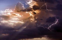 Piękna burza Obrazy Royalty Free