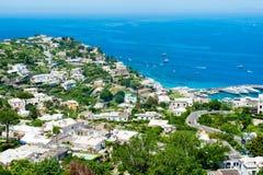 Piękna Capri wyspa Zdjęcia Royalty Free