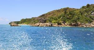 Piękna Curieuse wyspa w oceanie indyjskim Zdjęcie Royalty Free