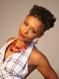 piękna, czarna kobieta Fotografia Stock