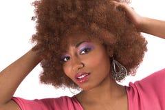 piękna, czarna kobieta Obrazy Royalty Free
